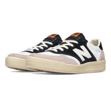 New Balance 300 New Balance, Black with Cream & White