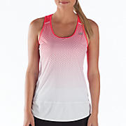 Impact Tunic Tank, White with Diva Pink