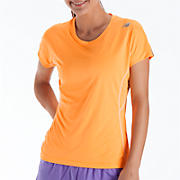 Impact Short Sleeve, Orange Pop with White