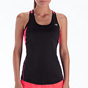 Momentum Racerback, Black with Diva Pink