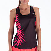 Momentum Racerback Graphic, Black with Diva Pink
