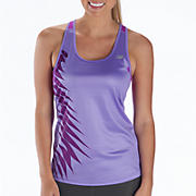Momentum Racerback Graphic, Purplehaze with Purple Cactus Flower