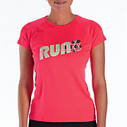 Momentum Short Sleeve Graphic, Diva Pink