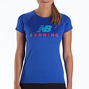Momentum Short Sleeve Graphic, Dazzling Blue