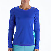 Go 2 Long Sleeve, Dazzling Blue with Blue Atoll
