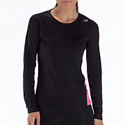 Go 2 Long Sleeve, Black with Pink Shock