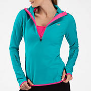 Impact Thermal 1/2 zip, Capri Breeze with Pink Glo
