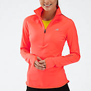 Impact Thermal 1/2 zip, Fiery Coral