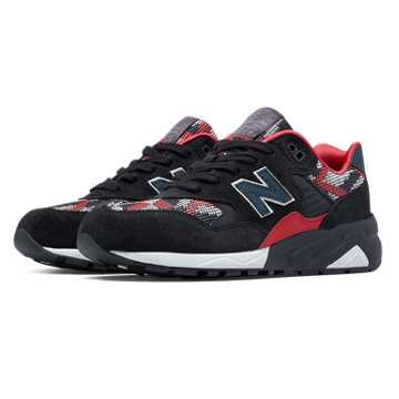 New Balance 580 Plastic Weave, Navy with Red