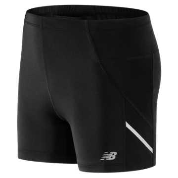 New Balance Accelerate Fitted Short, Black