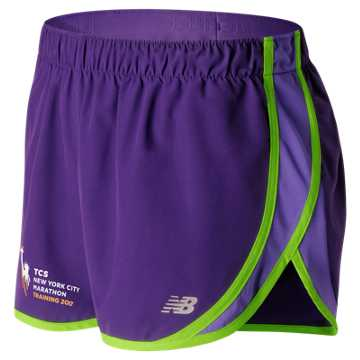 New Balance NYC Marathon Training Short, Black Plum