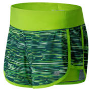 NB Impact 4 Inch 2 in 1 Short, Tornado with Lime Glo & White