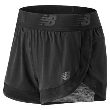 New Balance Mixed Media 2 in 1 Short, Black