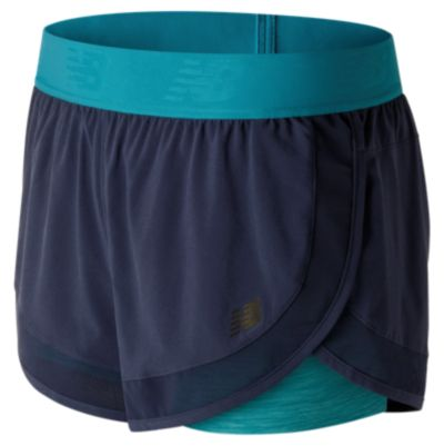 New Balance 71120 Women's Mixed Media 2 in 1 Short | WS71120PGM