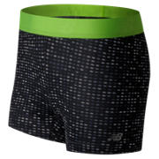 NB Accelerate Printed Hot Short, Black with Lime Glo
