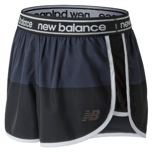 New Balance Printed Accelerate 2.5 Inch Short Girl's Performance - WS81146BGR