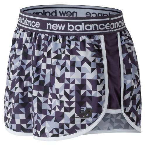 New Balance Printed Accelerate 2.5 Inch Short Girl's Performance - WS81146EDB