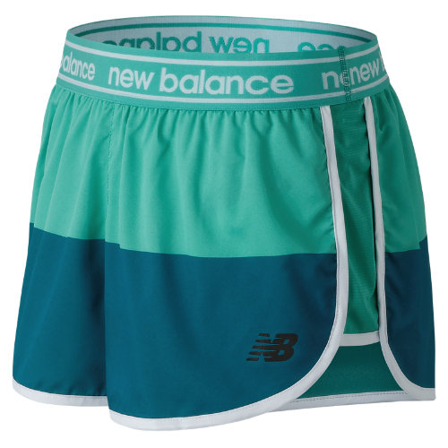 New Balance Printed Accelerate 2.5 Inch Short Girl's Performance - WS81146LKB