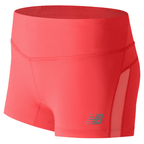 New Balance Impact Hotshort - Vivid Coral (Taille L)