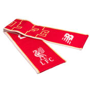 LFC Kop Scarf, High Risk Red with White & Amber Yellow