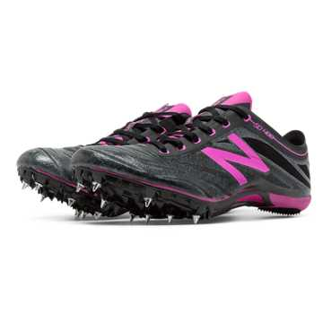 New Balance SD400v3 Spike, Black with Azalea