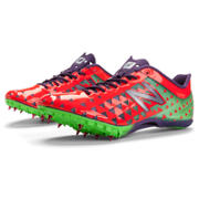 New Balance SD400 Spike, Race Red with Neon Green & Purple Magic