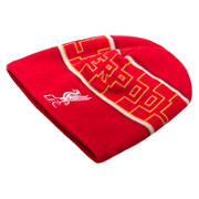 NB LFC Kop Fleece Beanie, High Risk Red with White & Amber Yellow
