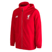 New Balance LFC Jr Training Rain Jacket, High Risk Red with White