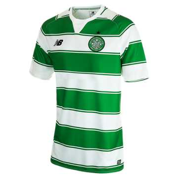 New Balance Celtic Jr Home Jersey, Celtic Green with White