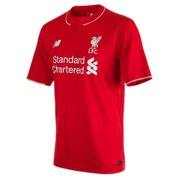 New Balance LFC Mens Sterling Home EPL Patch SS Jersey, High Risk Red