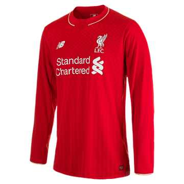 New Balance LFC Mens Sterling Home No Patch LS Jersey, High Risk Red