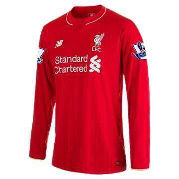 New Balance LFC Mens Sterling Home EPL Patch LS Jersey, High Risk Red