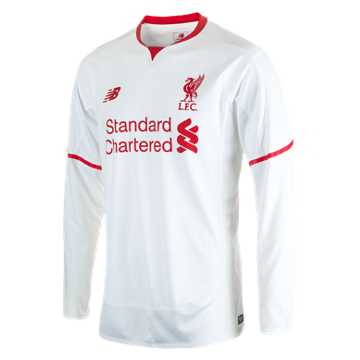 New Balance LFC Mens Sterling Away No Patch LS Jersey, White