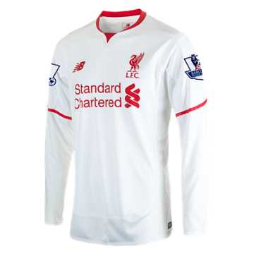 New Balance LFC Mens Sterling Away EPL Patch LS Jersey, White