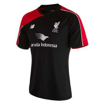 New Balance LFC Mens Training SS Jersey, Black