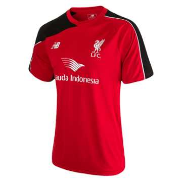 New Balance LFC Mens Training SS Jersey, High Risk Red