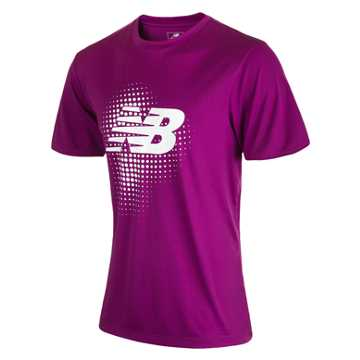 New Balance Take Down Training SS Jersey, Deep Orchid with White