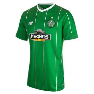 New Balance Celtic Mens Away SS Jersey, Celtic Green with White