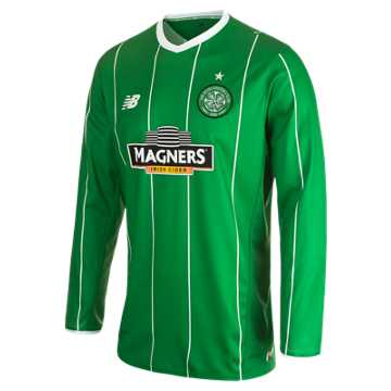 New Balance Celtic Mens Away LS Jersey, Celtic Green with White