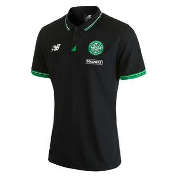 New Balance Celtic Mens Training Polo, Black