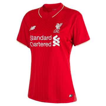 New Balance LFC Womens Sterling Home No Patch SS Jersey, High Risk Red