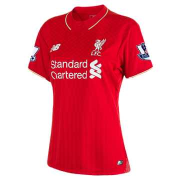 New Balance LFC Womens Sterling Home EPL Patch SS Jersey, High Risk Red