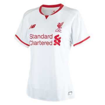 New Balance LFC Womens Sterling Away No Patch SS Jersey, White