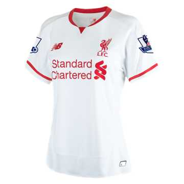 New Balance LFC Womens Sterling Away EPL Patch SS Jersey, White