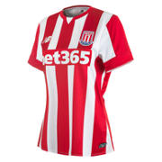 Stoke City Women's Home Jersey, High Risk Red
