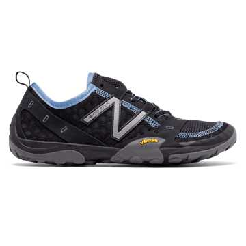 New Balance Minimus 10v1 Trail, Black with Light Blue