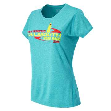 New Balance Falmouth Tee, Sea Glass Heather