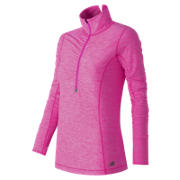 Impact Half Zip, Azalea Heather