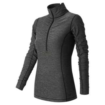 New Balance Impact Half Zip, Black Heather