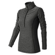 Impact Half Zip, Black Heather